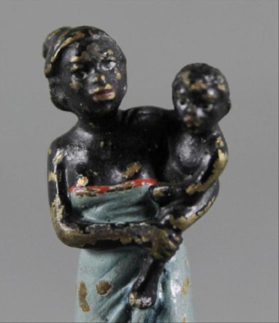 Vienna Style Cold Painted Figure Of A Woman With Baby - 2