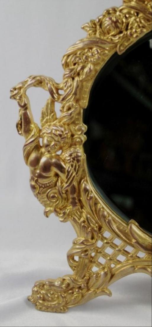 C 1880 Antique Signed American Art Mirror - 4