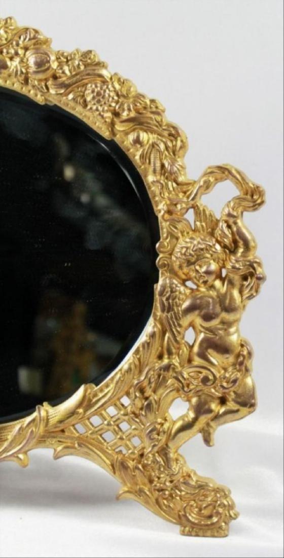 C 1880 Antique Signed American Art Mirror - 5