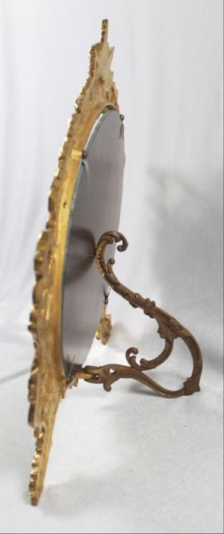 C 1880 Antique Signed American Art Mirror - 7