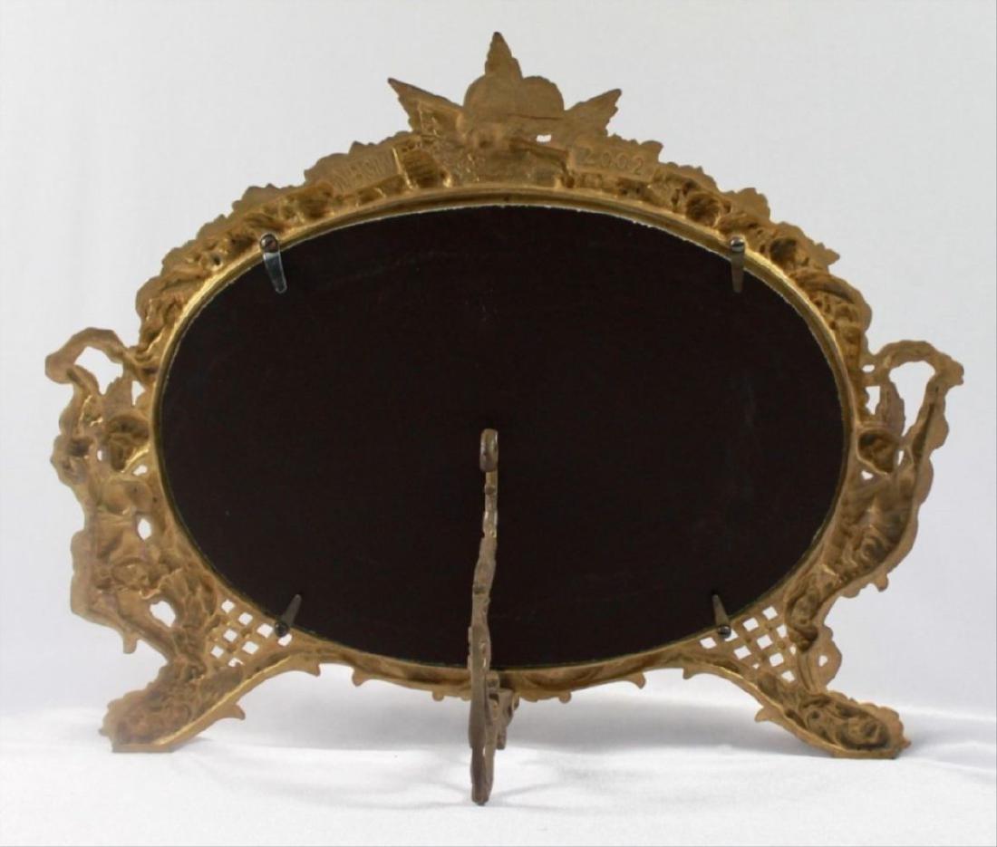 C 1880 Antique Signed American Art Mirror - 8