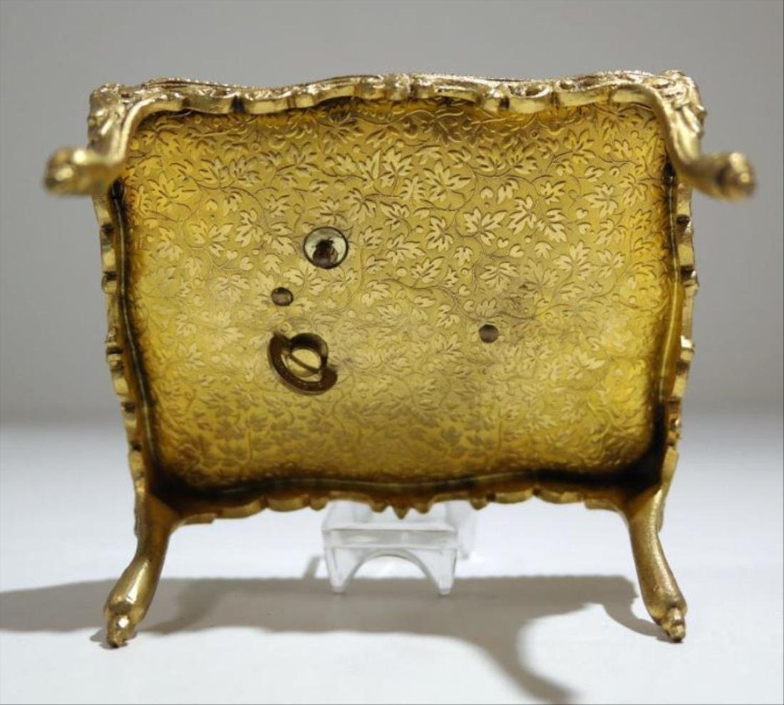 Viennese Enamel Miniature Table Music Box - 4