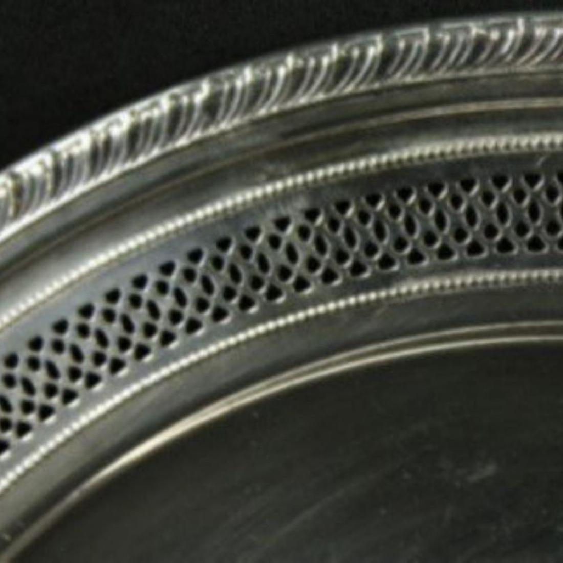 Sterling Silver Gadrooned And Reticulated Dish - 2