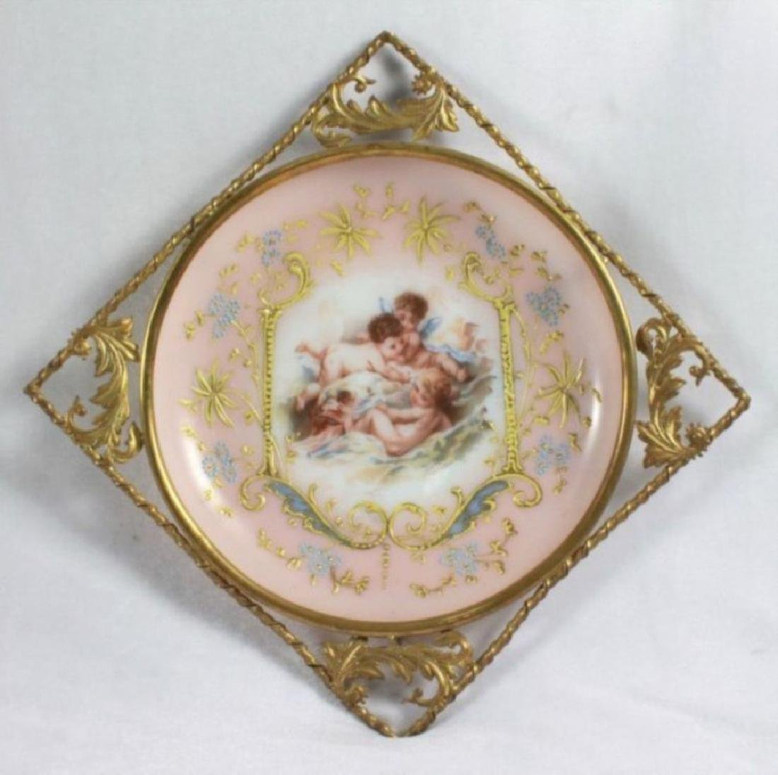 19Th C. Victorian Enameled Porcelain Wall Hangings - 2