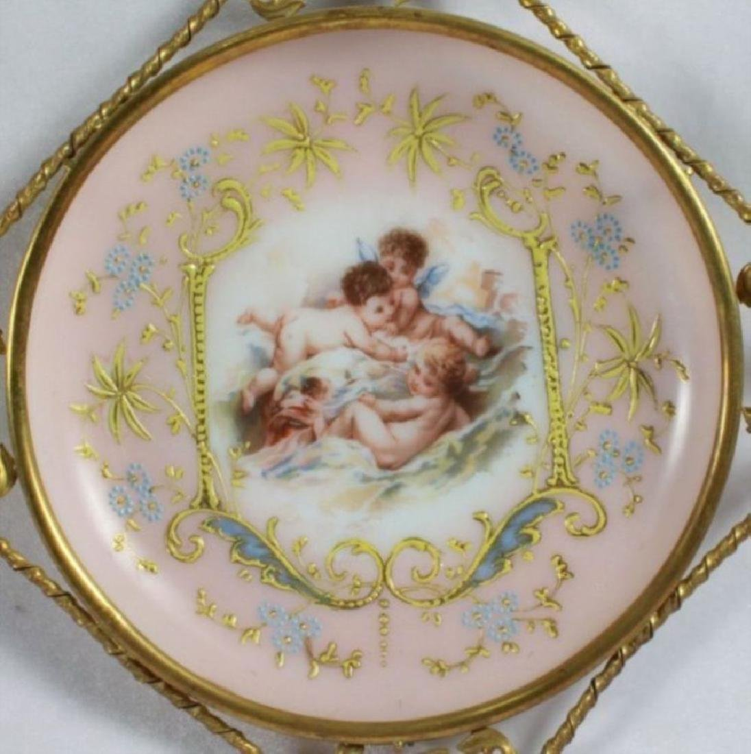 19Th C. Victorian Enameled Porcelain Wall Hangings - 3