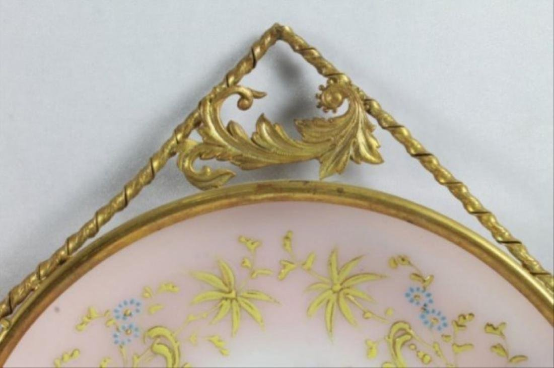 19Th C. Victorian Enameled Porcelain Wall Hangings - 5