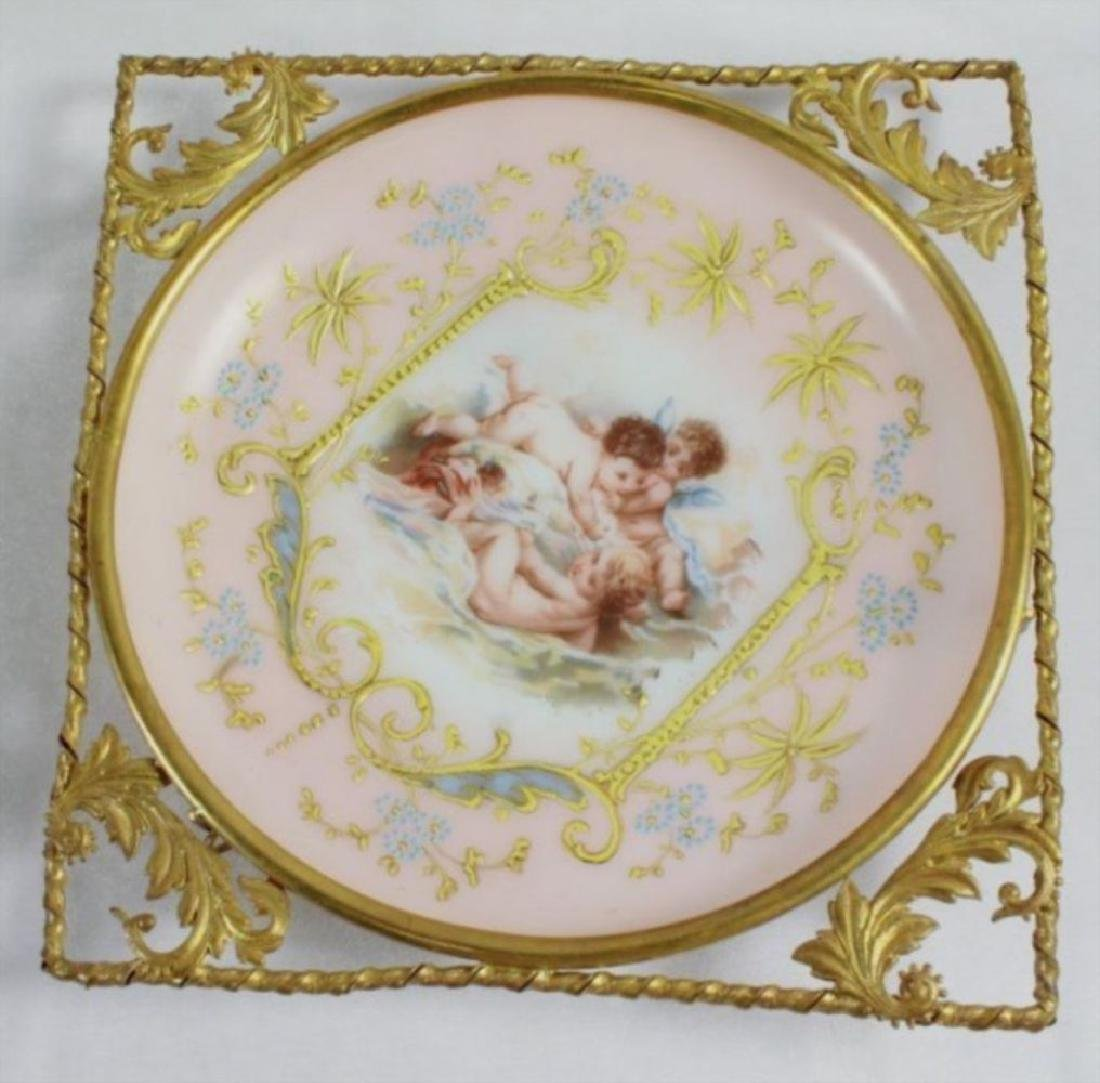 19Th C. Victorian Enameled Porcelain Wall Hangings - 6