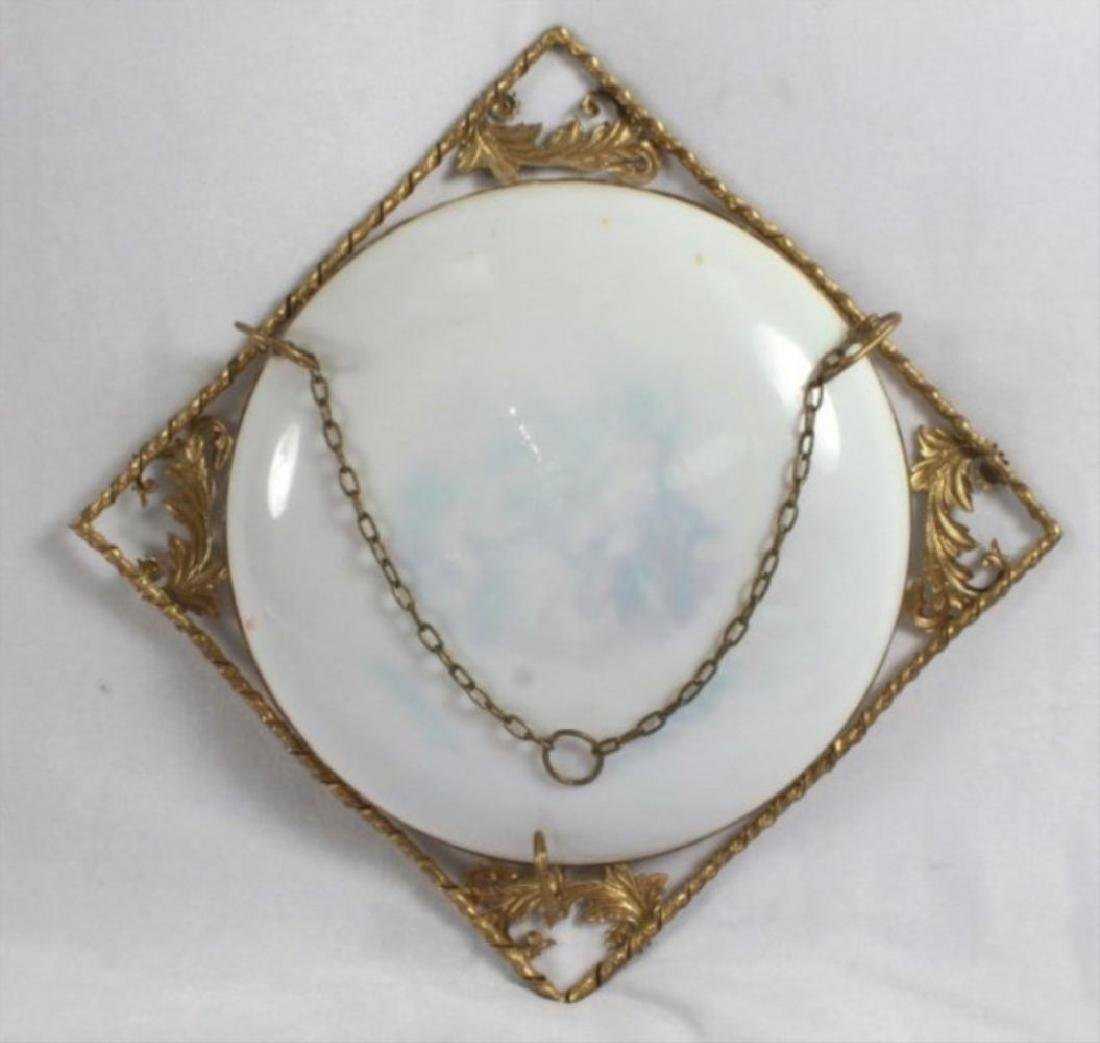 19Th C. Victorian Enameled Porcelain Wall Hangings - 8