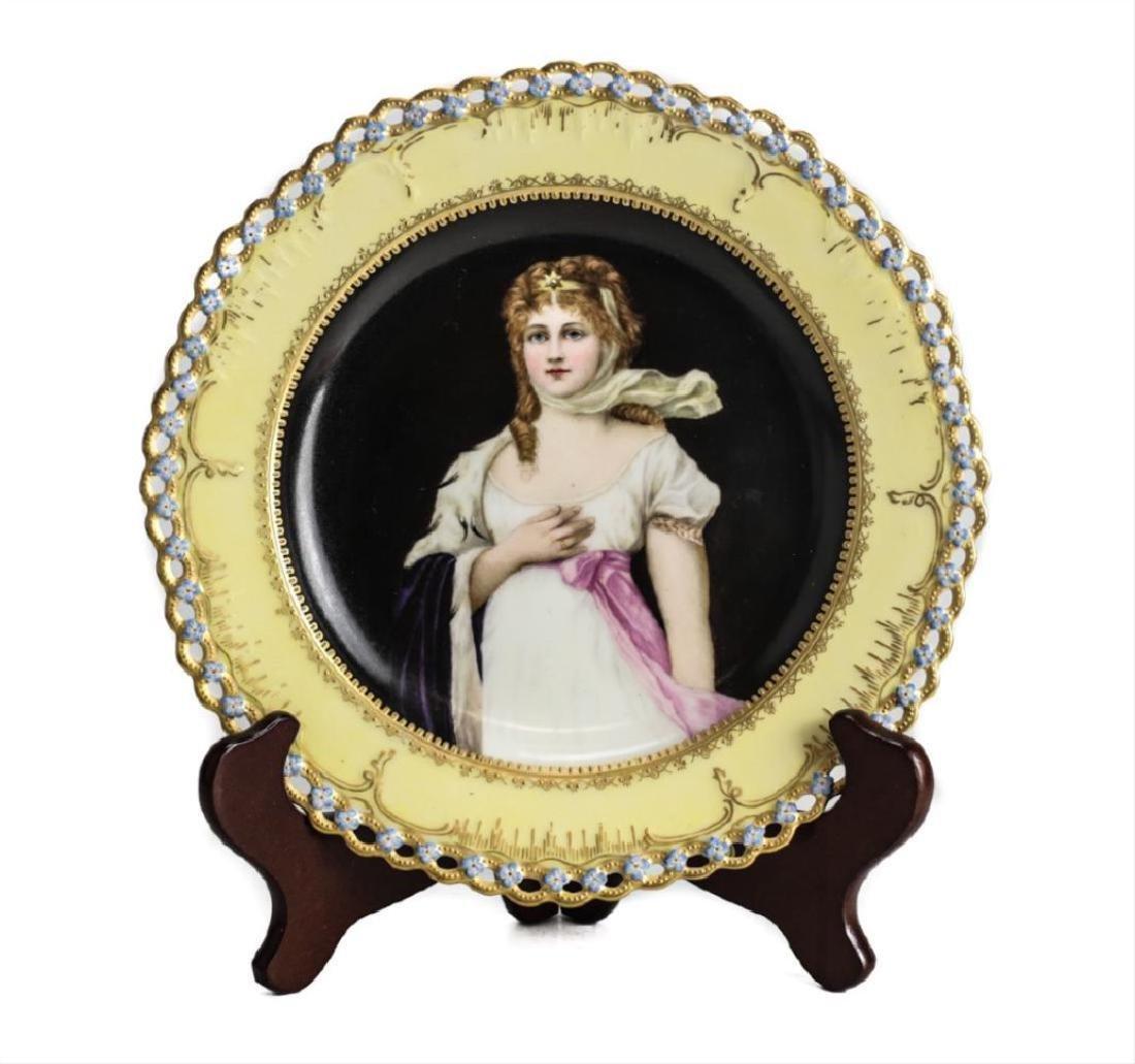 Berlin Kpm Porcelain Portrait Plate