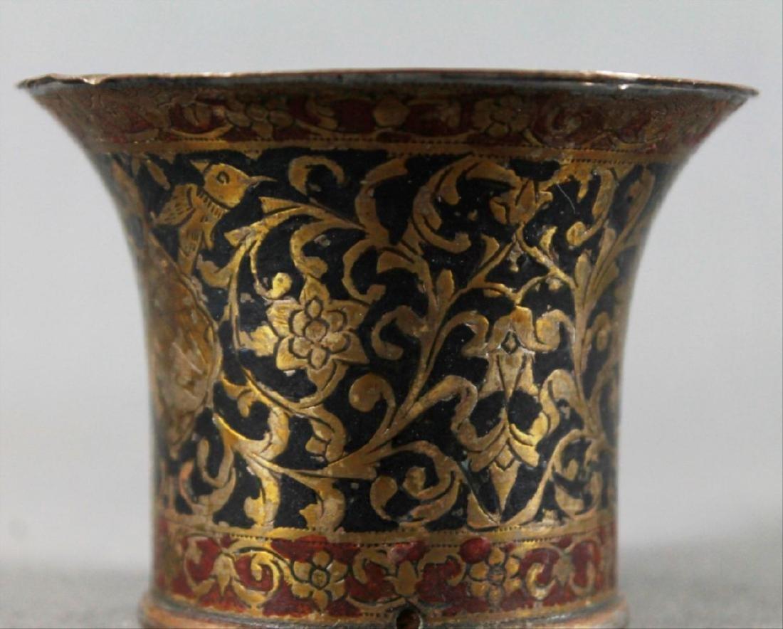 Qajar Inlaid Vase - 2