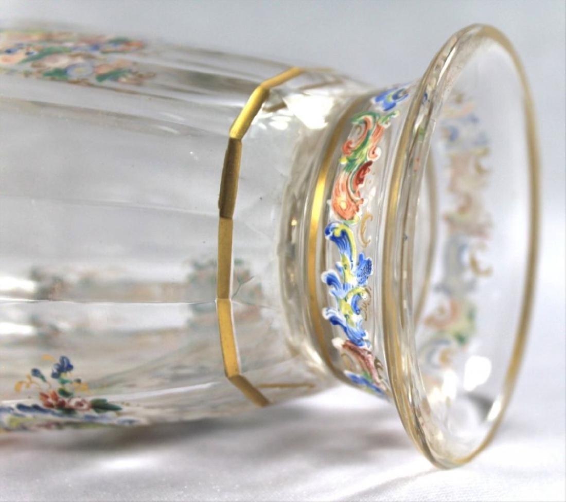 Lobmeyr Enameled Vase - 10