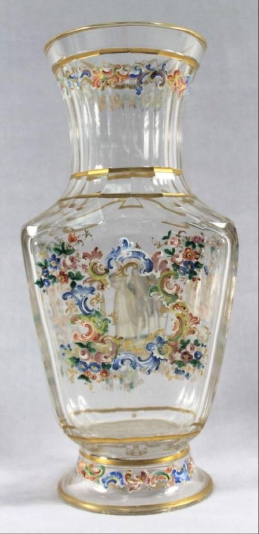 Lobmeyr Enameled Vase