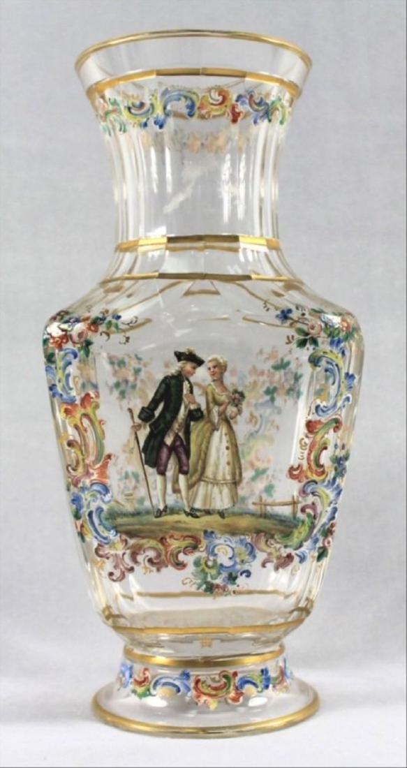 Lobmeyr Enameled Vase - 2