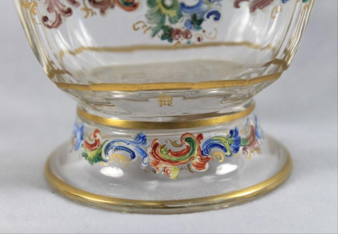 Lobmeyr Enameled Vase - 4