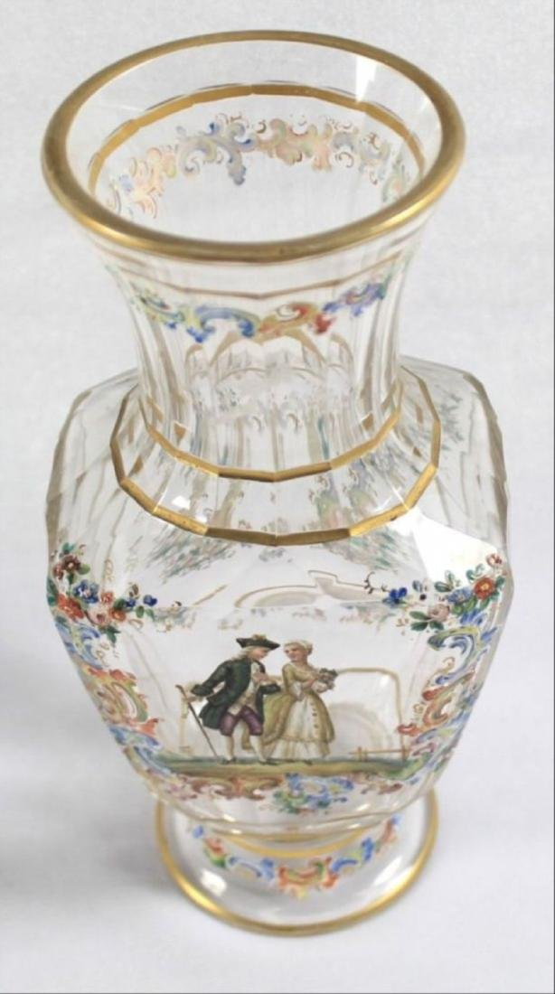 Lobmeyr Enameled Vase - 5