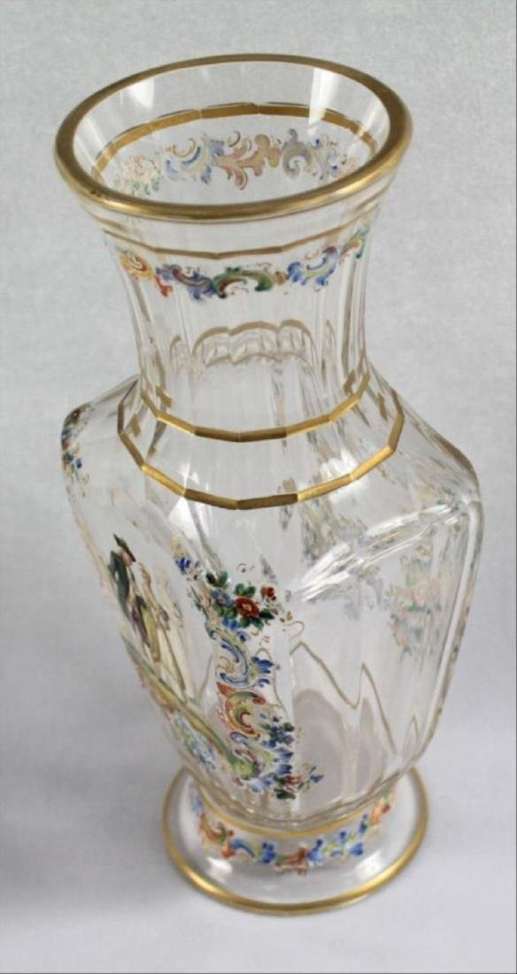 Lobmeyr Enameled Vase - 6