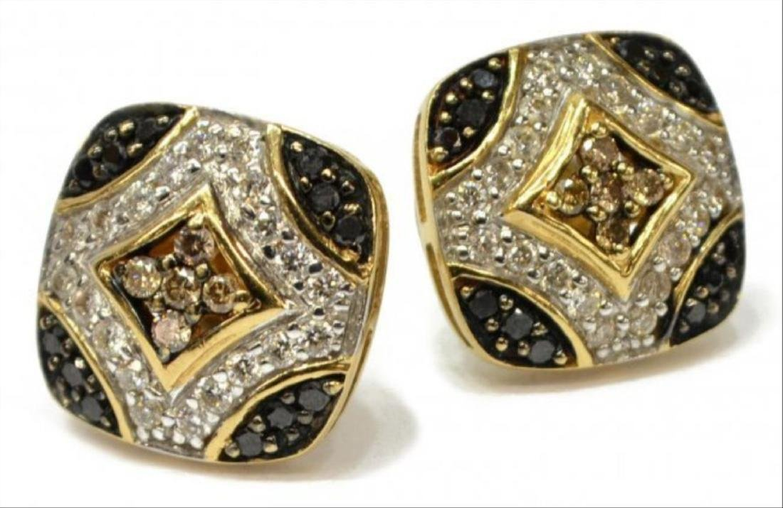 Ladies 14K Diamond Earrings Alwand Vahan Ijdn