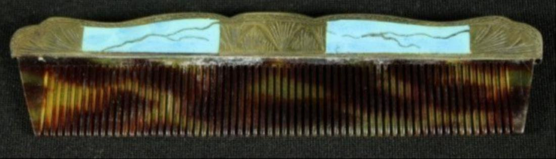 Polychrome Enamelled Silver And Metal Pocket Comb - 3