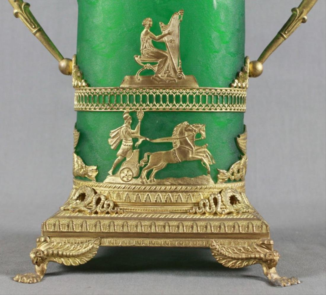 Daum Nancy Style Etched Glass And Ormolu Mounted Vase - 2
