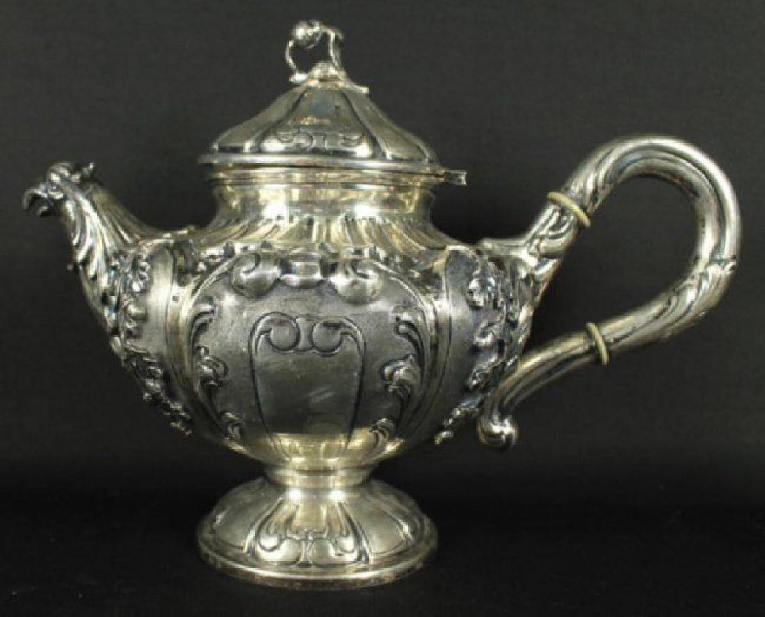Antique German 800 Silver Tea Set 5 Pc. - 5