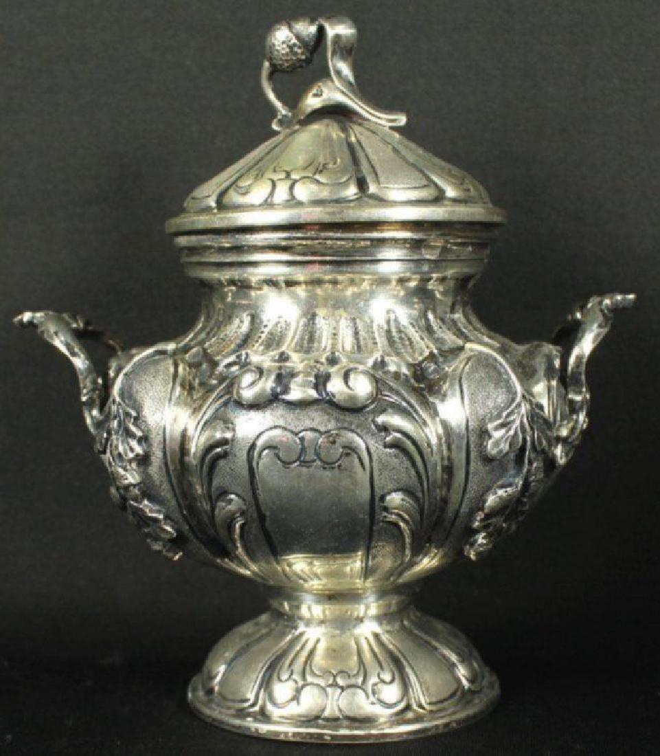 Antique German 800 Silver Tea Set 5 Pc. - 6