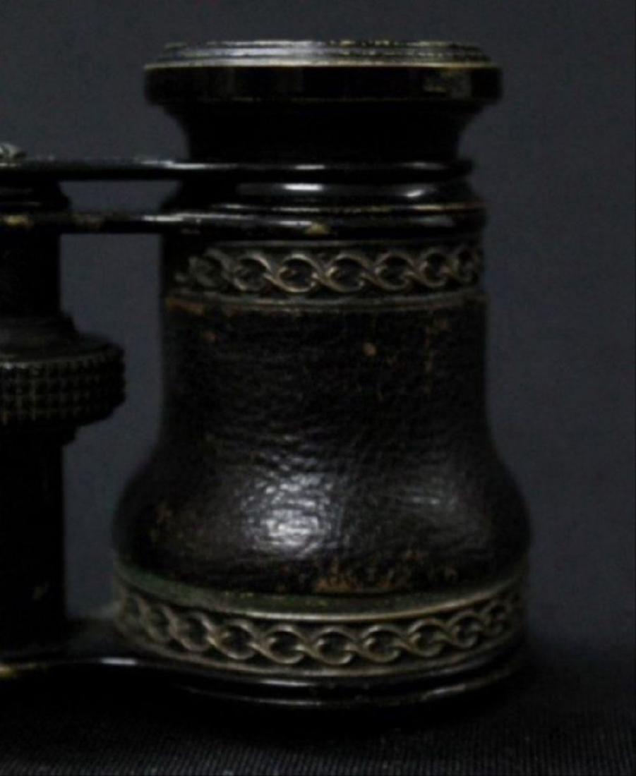 Jumelle Chevalier Leather, Cased Binoculars - 2