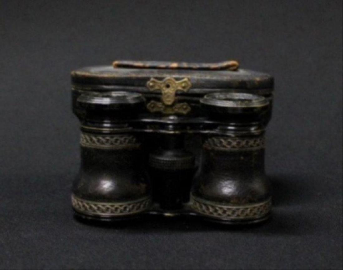 Jumelle Chevalier Leather, Cased Binoculars - 3