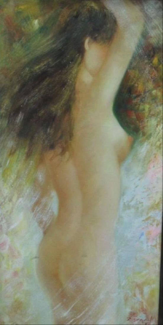 Original Oil Nude, Oil On Canvas Nude Signed Z. Danny - 2
