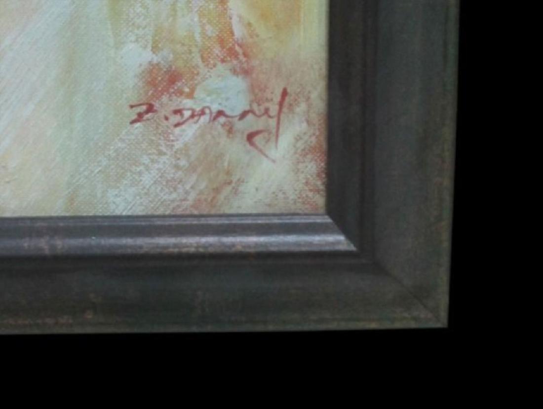 Original Oil Nude, Oil On Canvas Nude Signed Z. Danny - 3