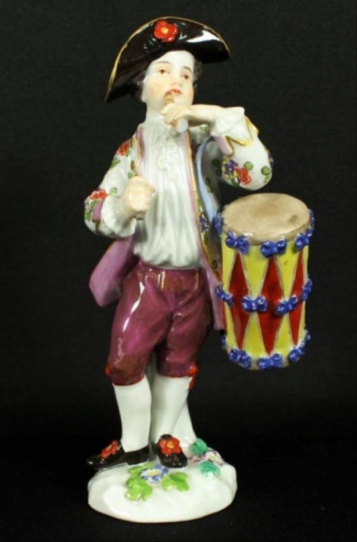 Meissen Boy With Drum And Flute