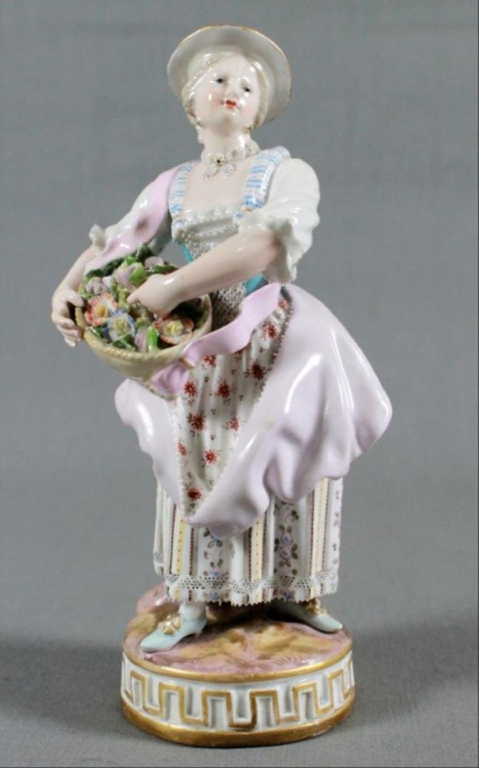 Meissen Porcelain Figure Of Maiden Late 19Th Century