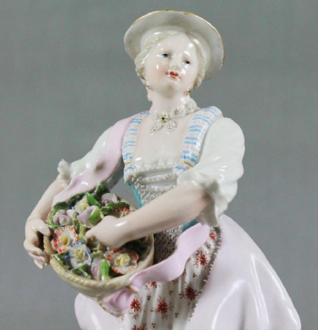 Meissen Porcelain Figure Of Maiden Late 19Th Century - 2