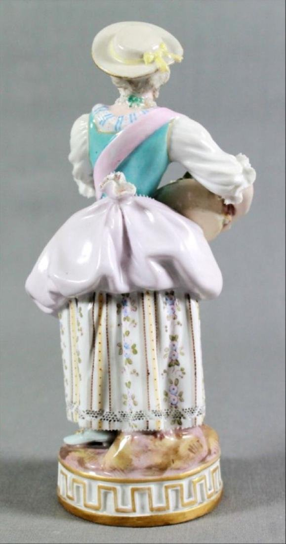Meissen Porcelain Figure Of Maiden Late 19Th Century - 3