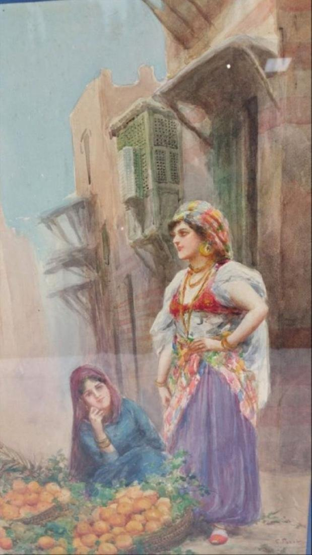 Fabio Fabbi Street Merchants Water Color On Paper - 3