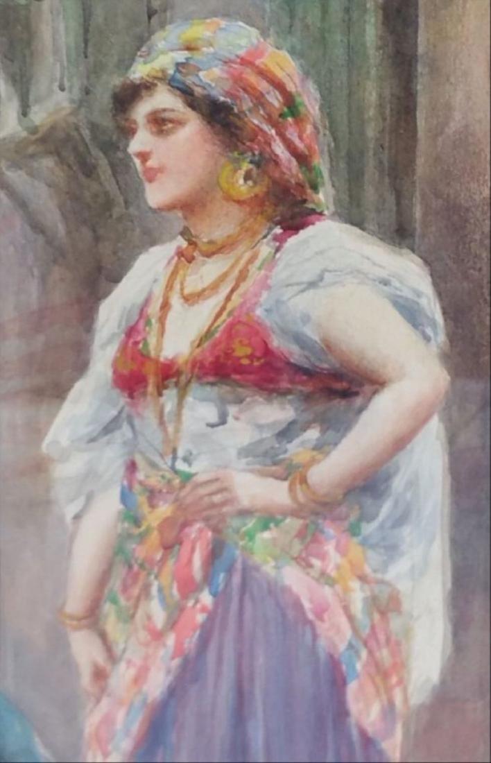 Fabio Fabbi Street Merchants Water Color On Paper - 4