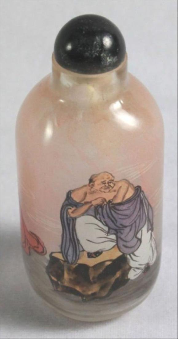 Chinese Reverse Paint Snuff Bottle - 8