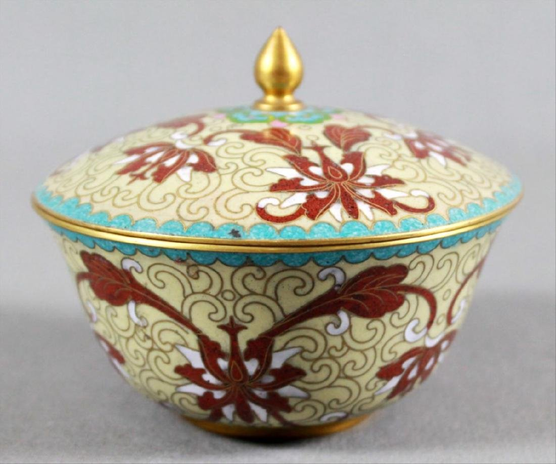 Cloisonne Bowl With Cover