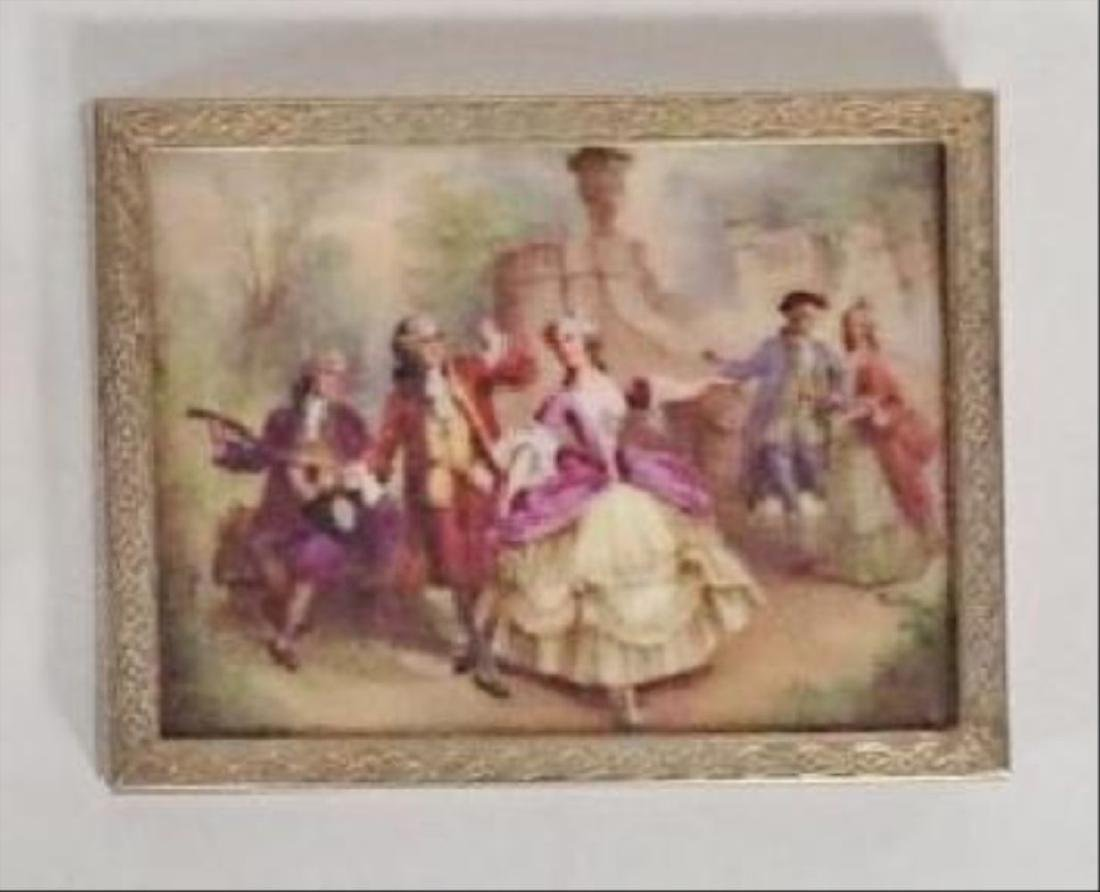 Antique Framed Porcelain Plaque