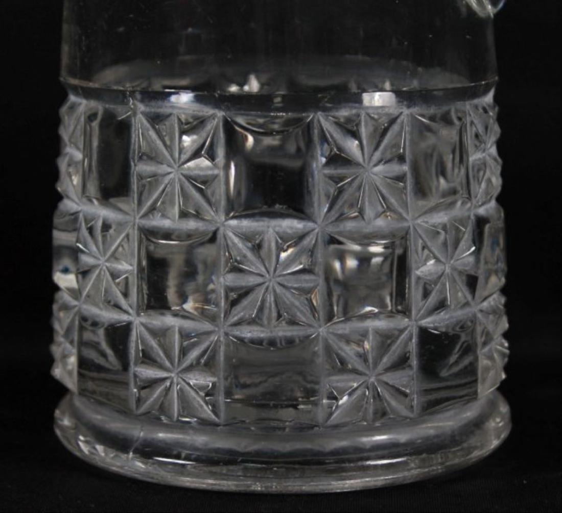 Baccarat Style Cut Glass Pitcher - 2