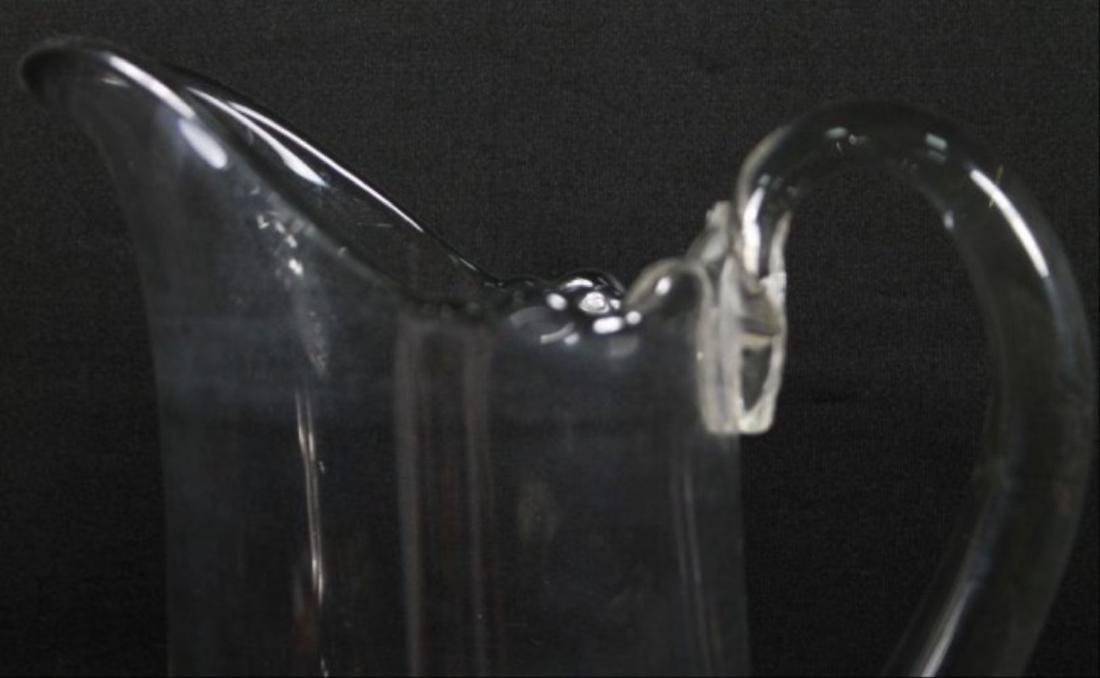 Baccarat Style Cut Glass Pitcher - 3
