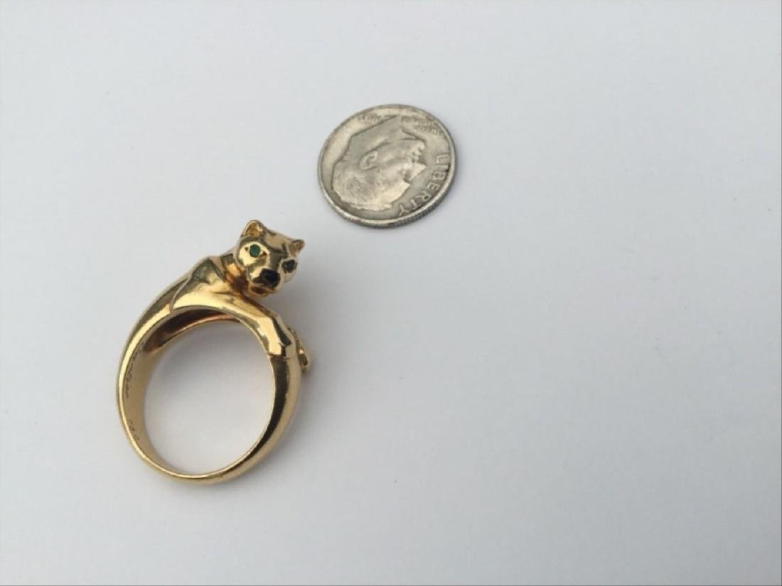 Authentic Vintage Cartier Panthere Ring 18K Yellow - 2