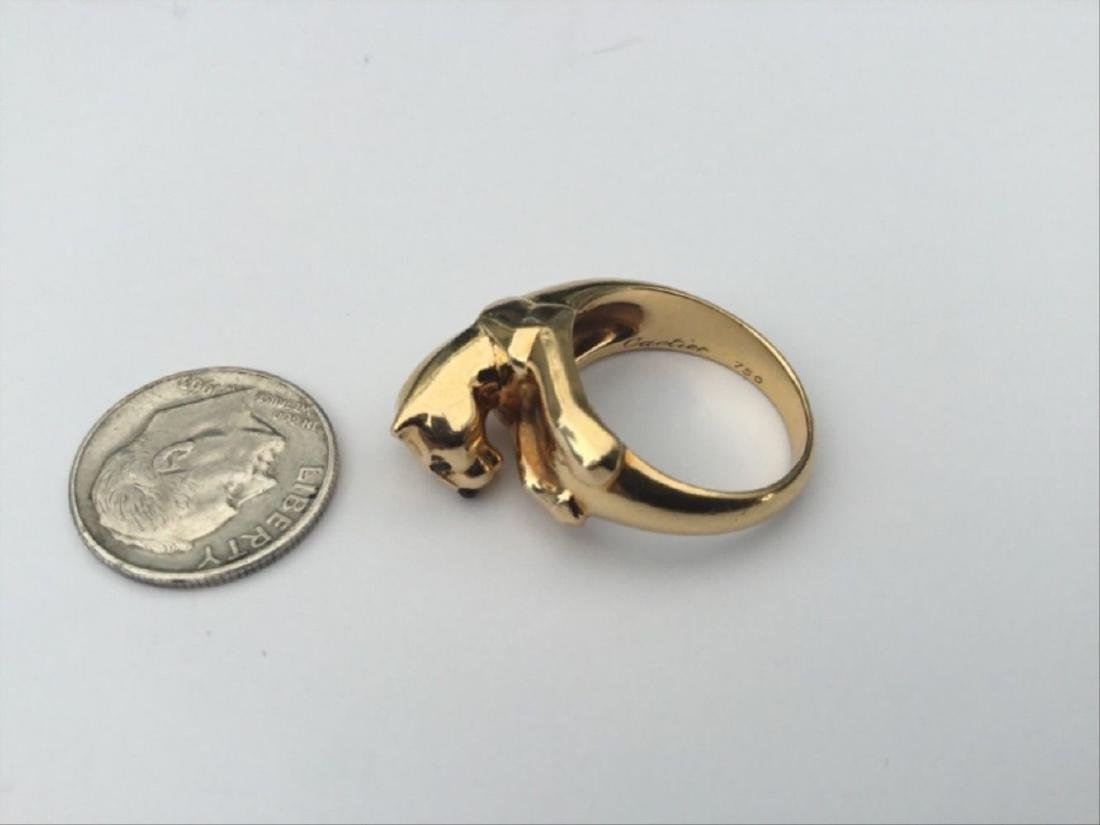 Authentic Vintage Cartier Panthere Ring 18K Yellow - 3