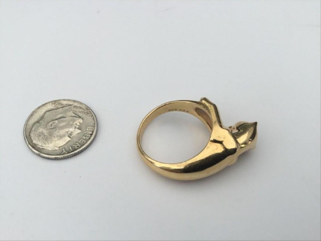 Authentic Vintage Cartier Panthere Ring 18K Yellow - 4