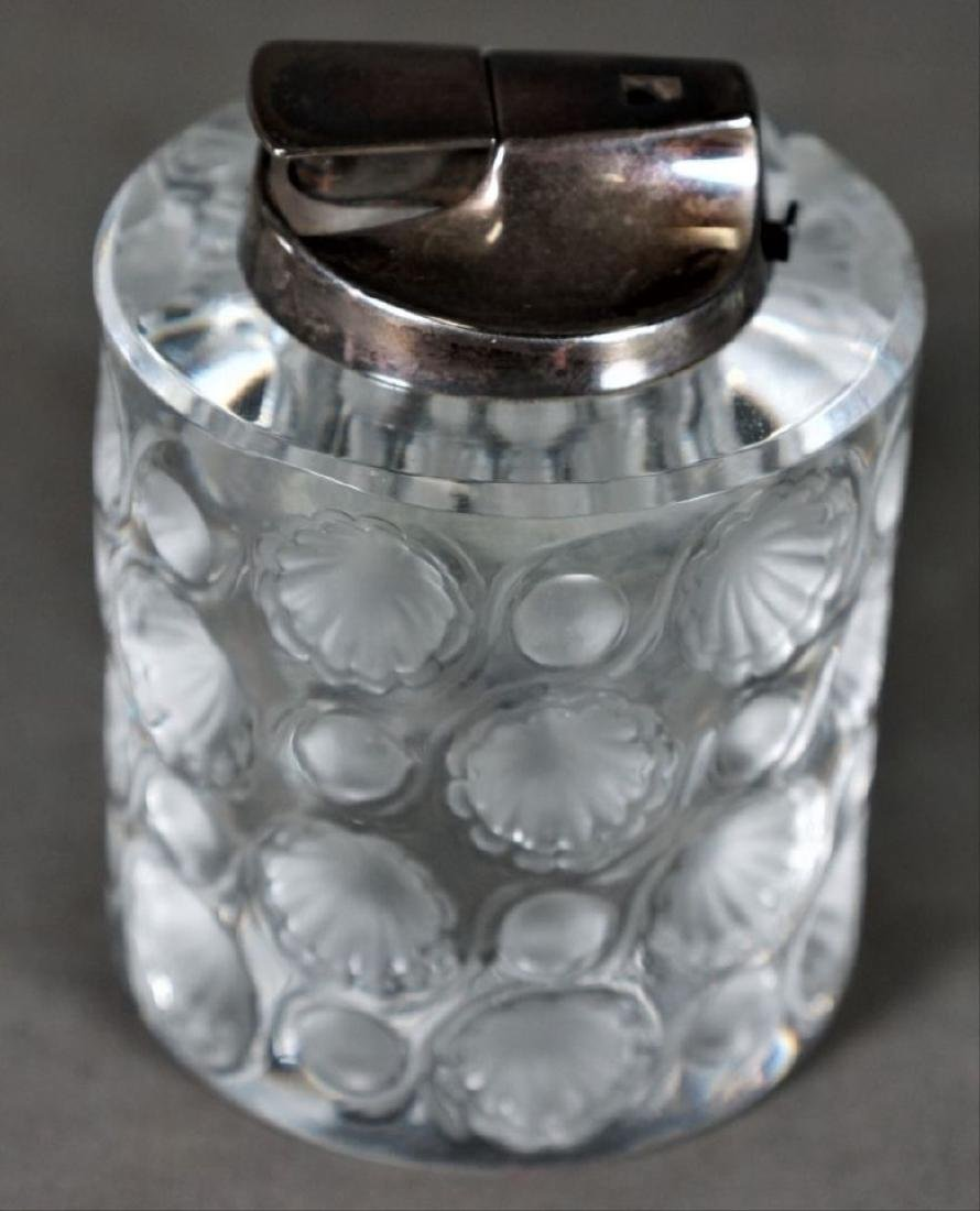 Lalique Clear And Frosted Glass Lighter