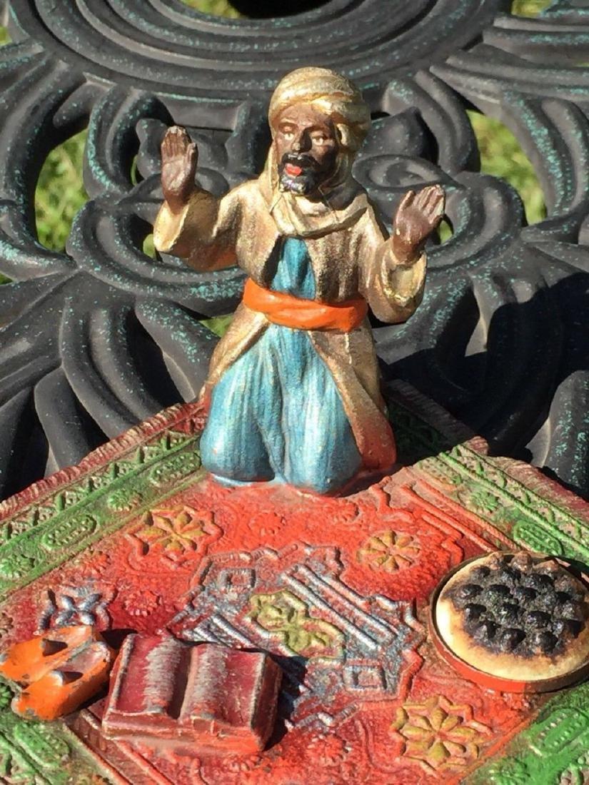 Vienna Coronet Cold Painted Enamel Figure Praying On - 5