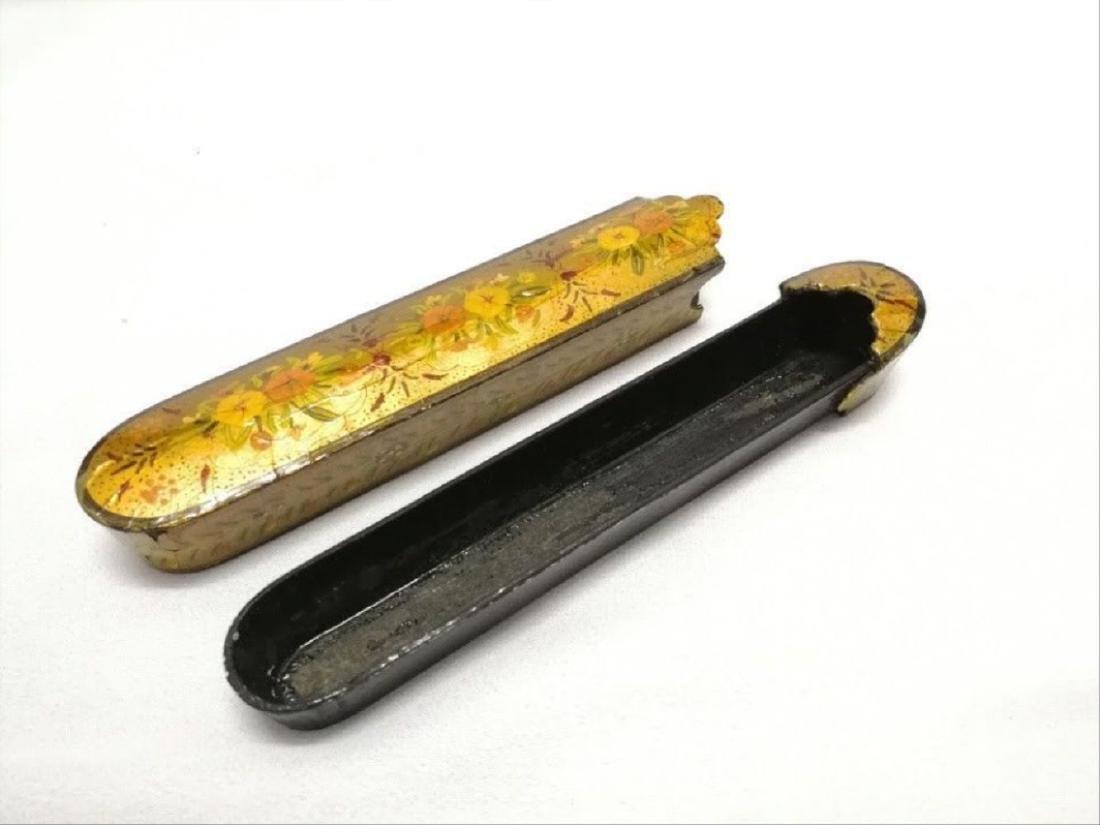 Antique Islamic Paper Mache Pen Box - 2