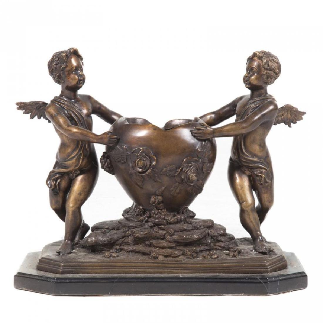 Louis Xvi Style Bronze Figural Planter