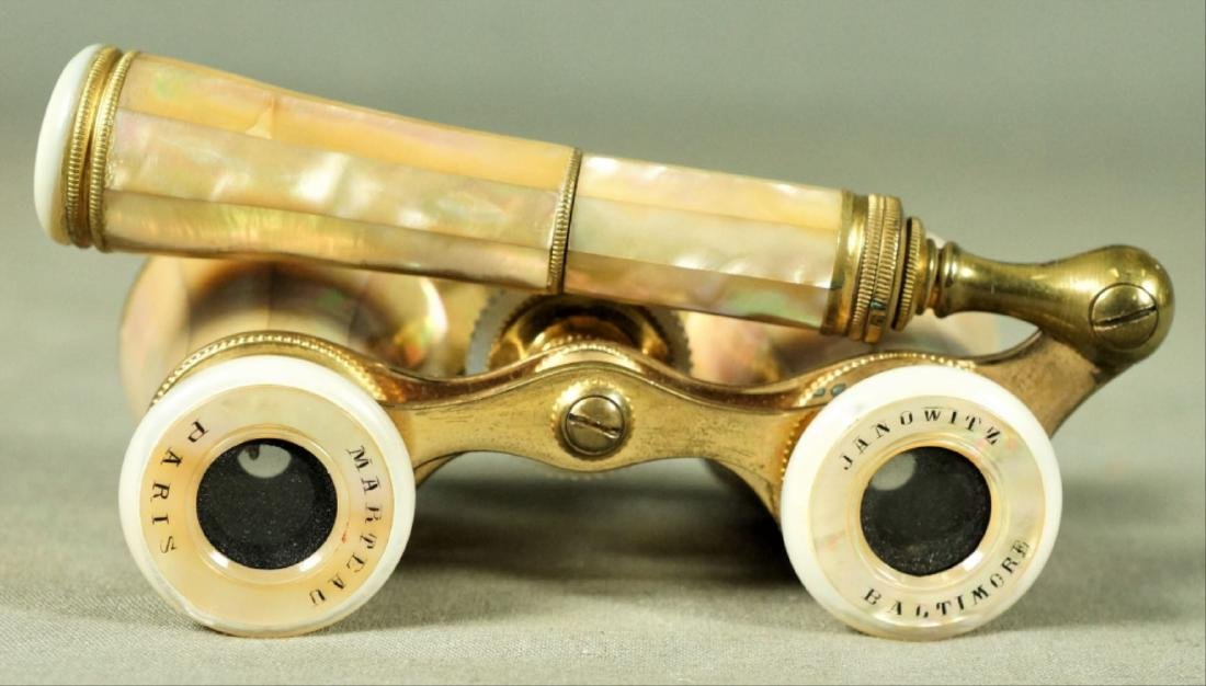 Parisian Mother-Of-Pearl And Brass Opera Glasses - 3