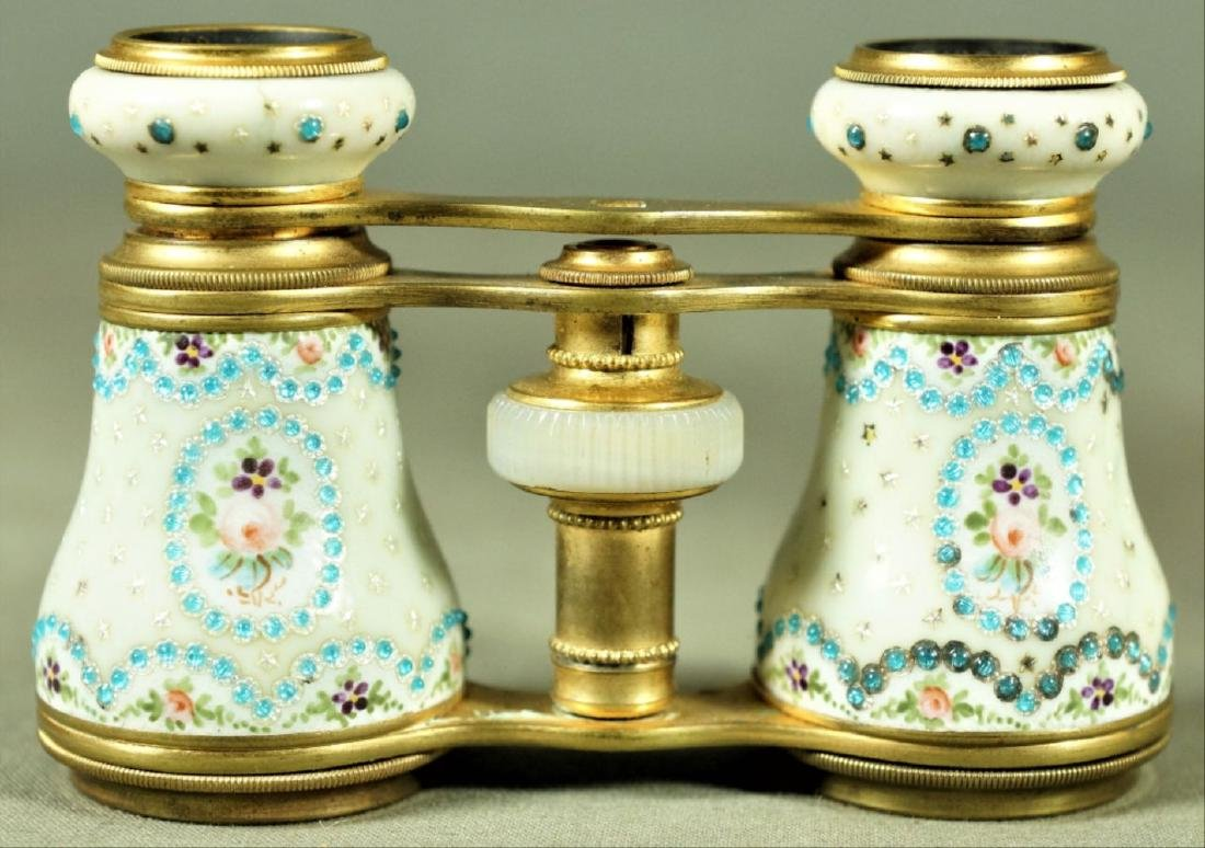Parisian Brass And Dimpled Enamel Decoration Opera
