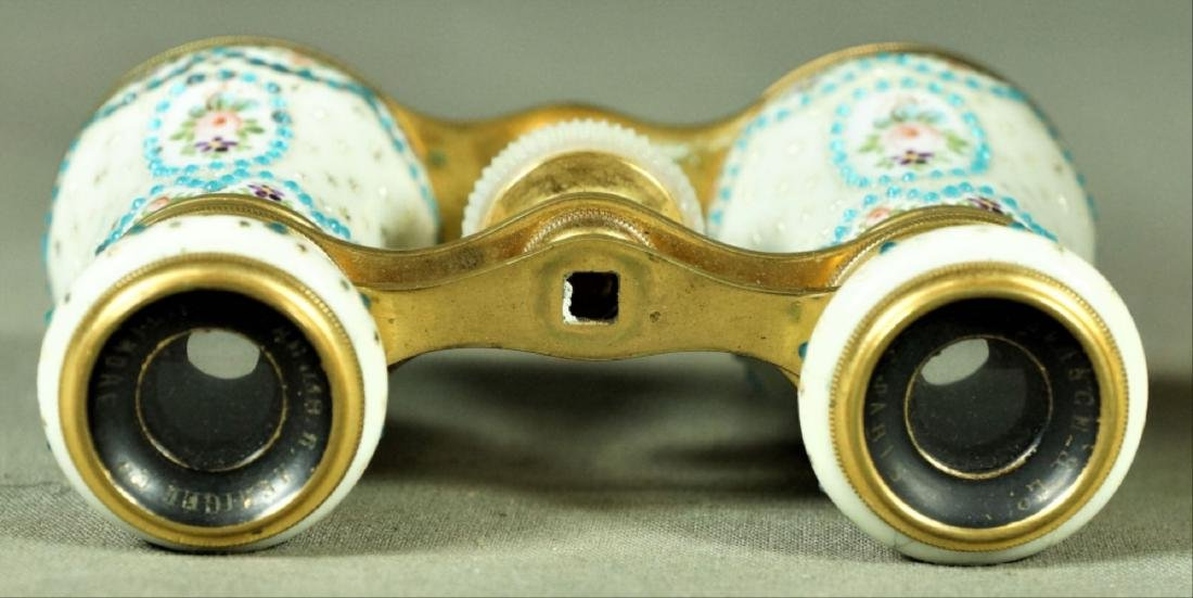 Parisian Brass And Dimpled Enamel Decoration Opera - 3